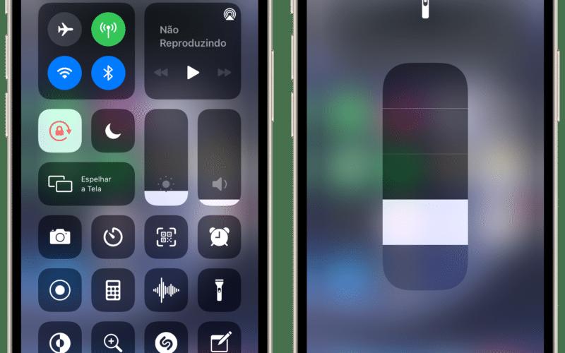 Ajustando o brilho da lanterna no iPhone