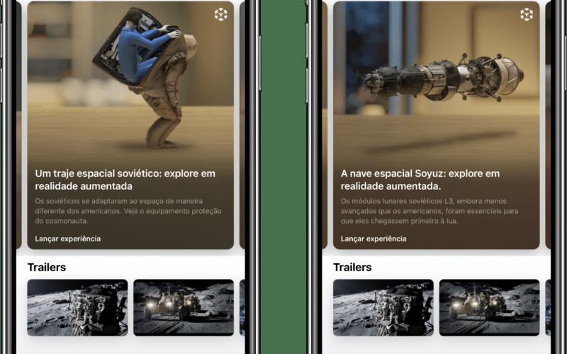 """Experiência em realidade aumentada da série """"For All Mankind"""" no app Apple TV"""
