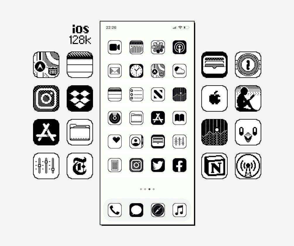 Pacote de ícones iOS128k
