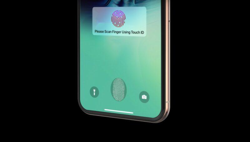 Touch ID sob a tela