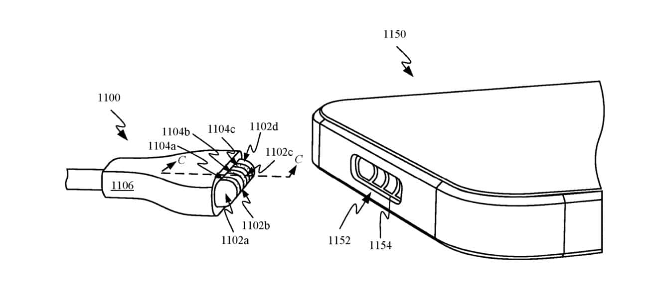 Patente de possível novo conector MagSafe