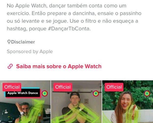 Desafio de dança do Apple Watch no TikTok