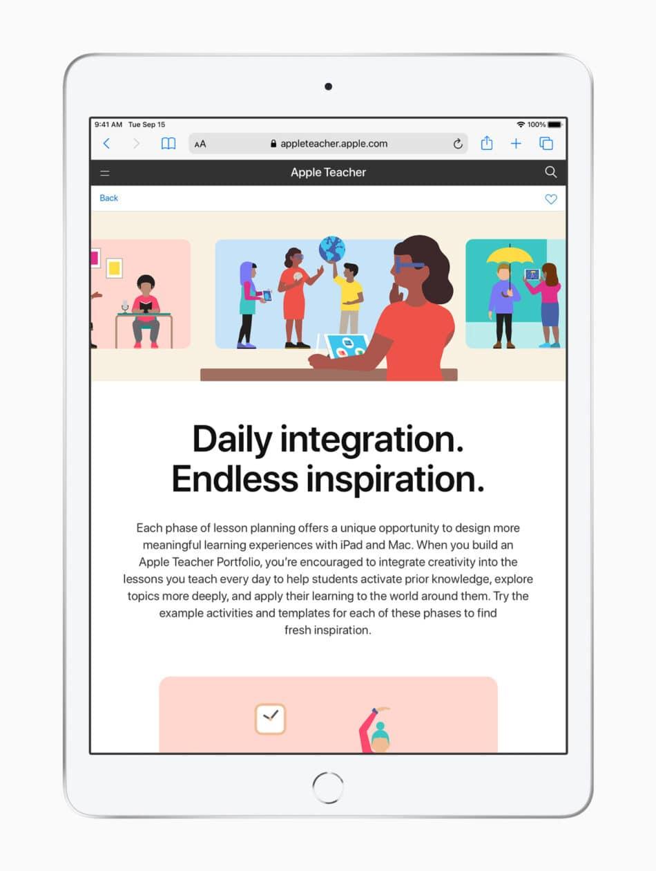 Apple Teacher Portfolio