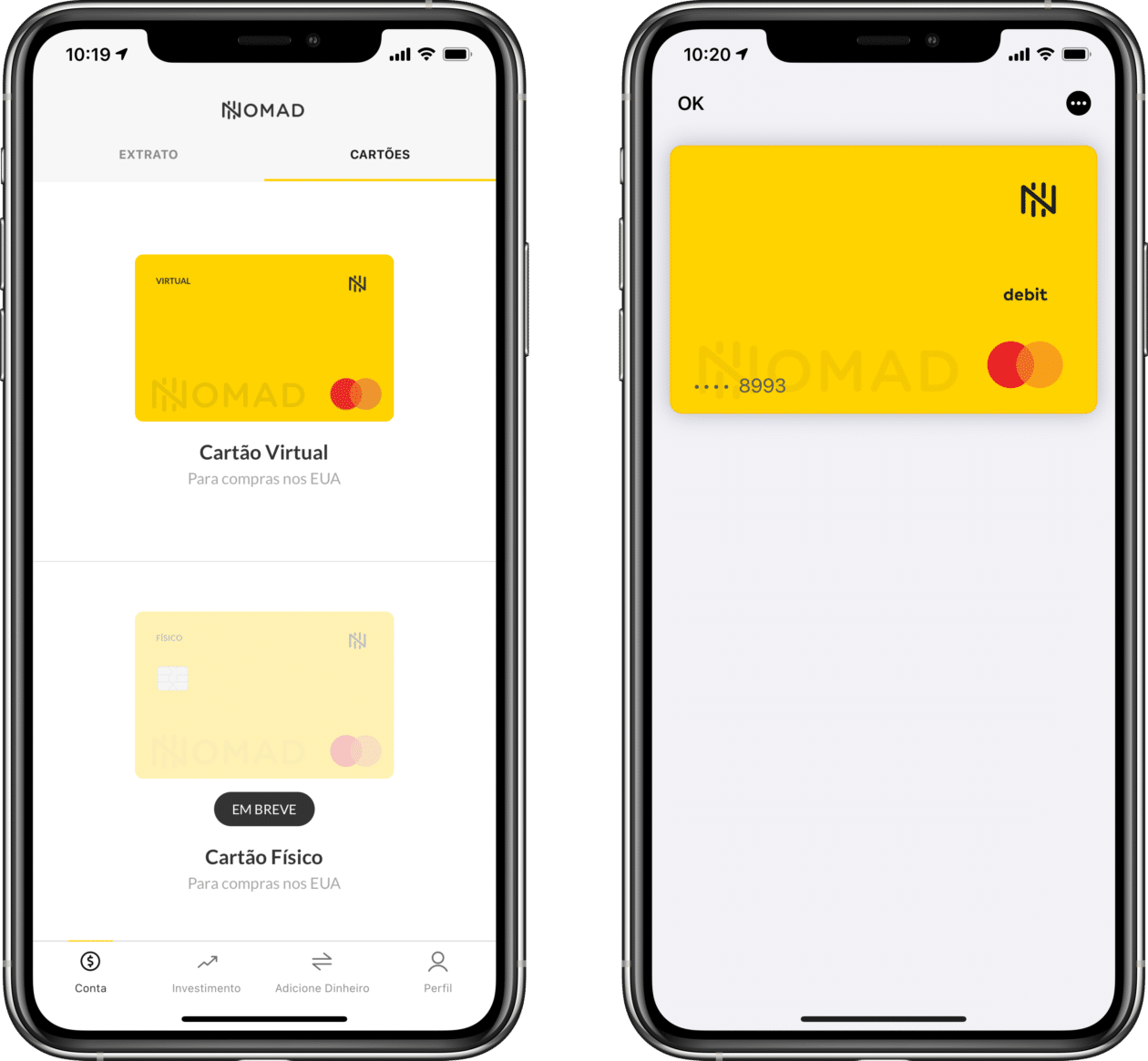 Aplicativo da Nomad