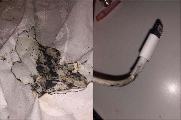 Carregador de iPhone que explodiu