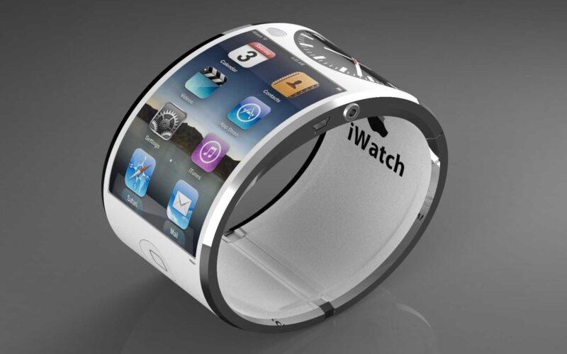 """Conceito de """"iWatch"""", Apple Watch com tela flexível"""