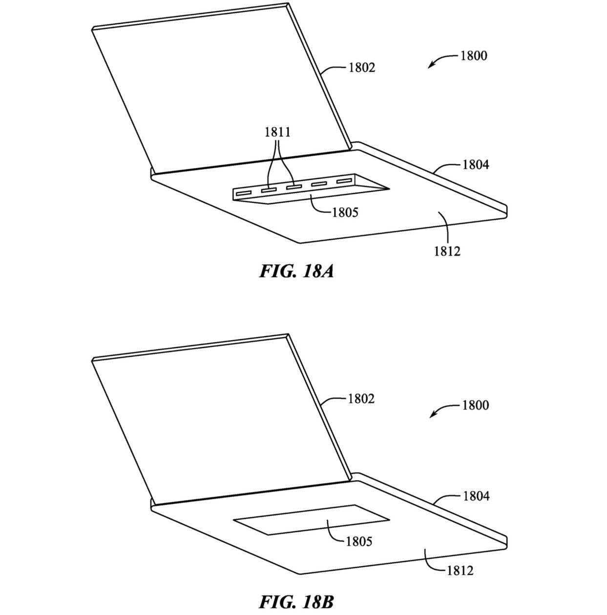 Patente de pés retráteis para MacBooks