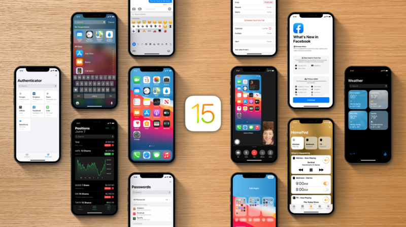 Conceito de iOS 15 por Parker Ortolani