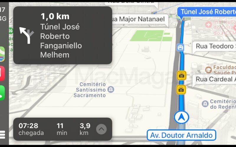 Radares de velocidade no Apple Maps