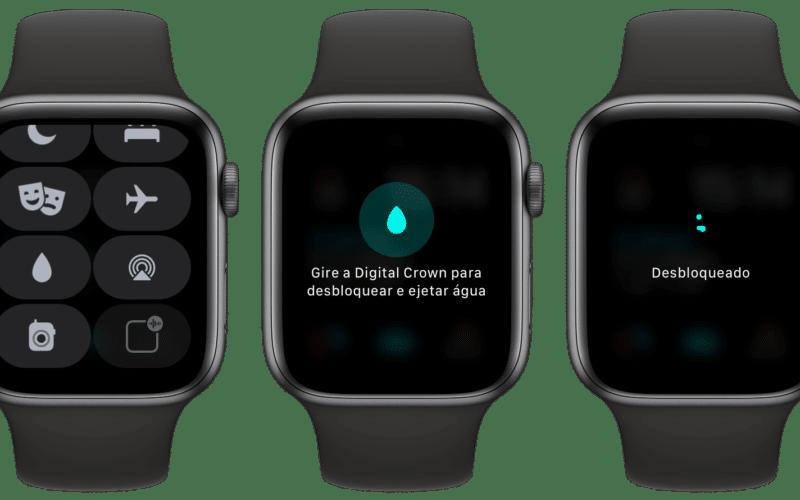 Bloqueio de água no Apple Watch