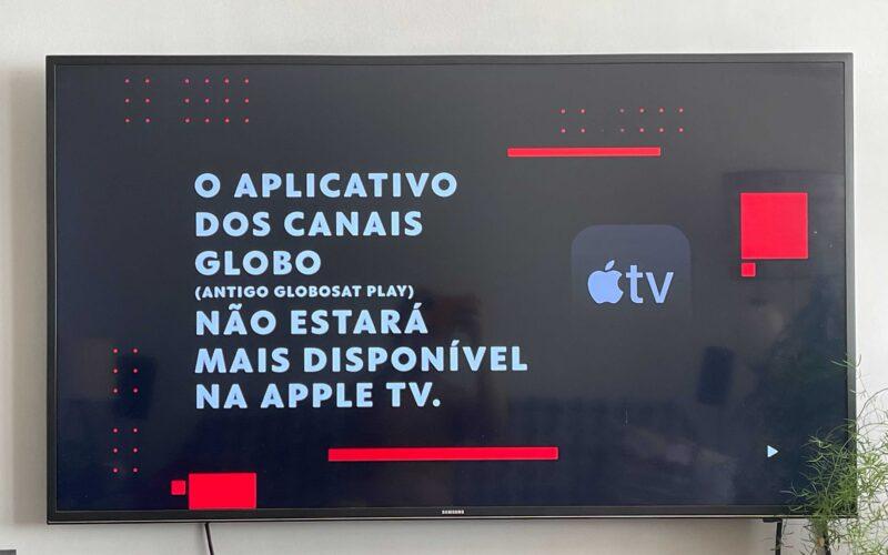 Aviso do app Canais Globo