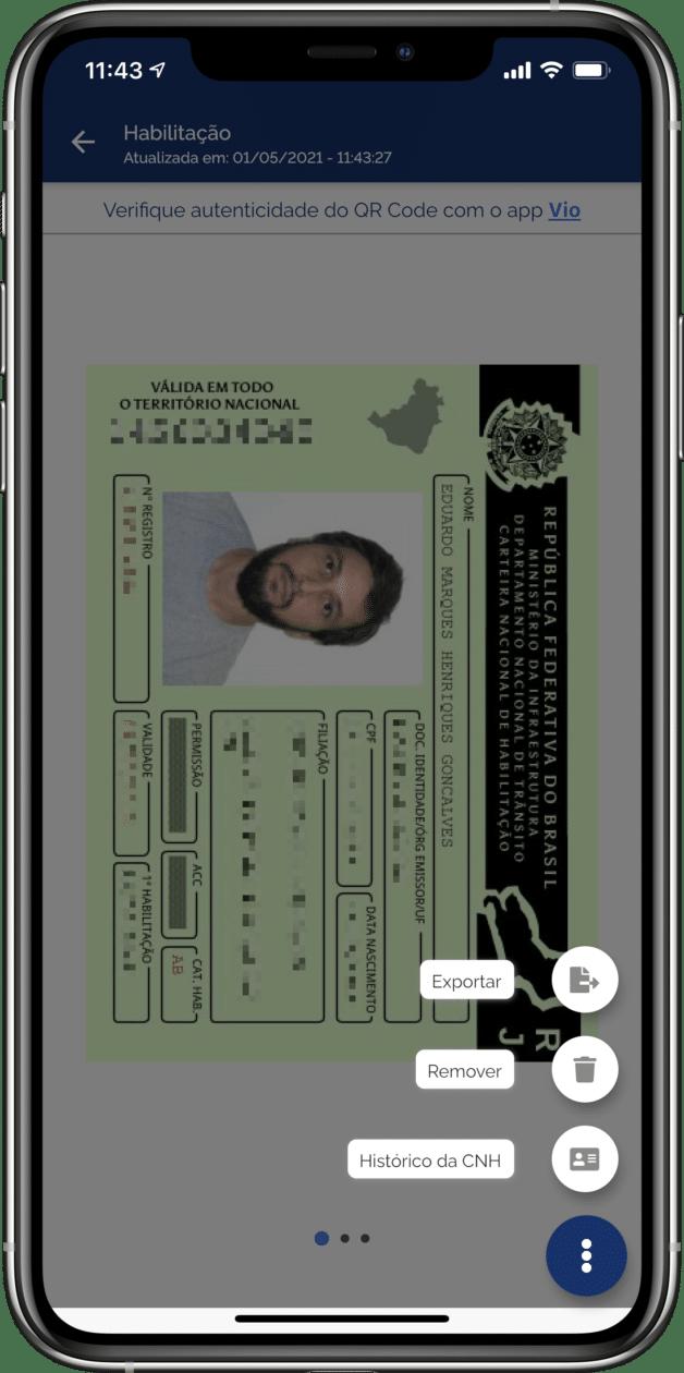 Exportar CNH Digital
