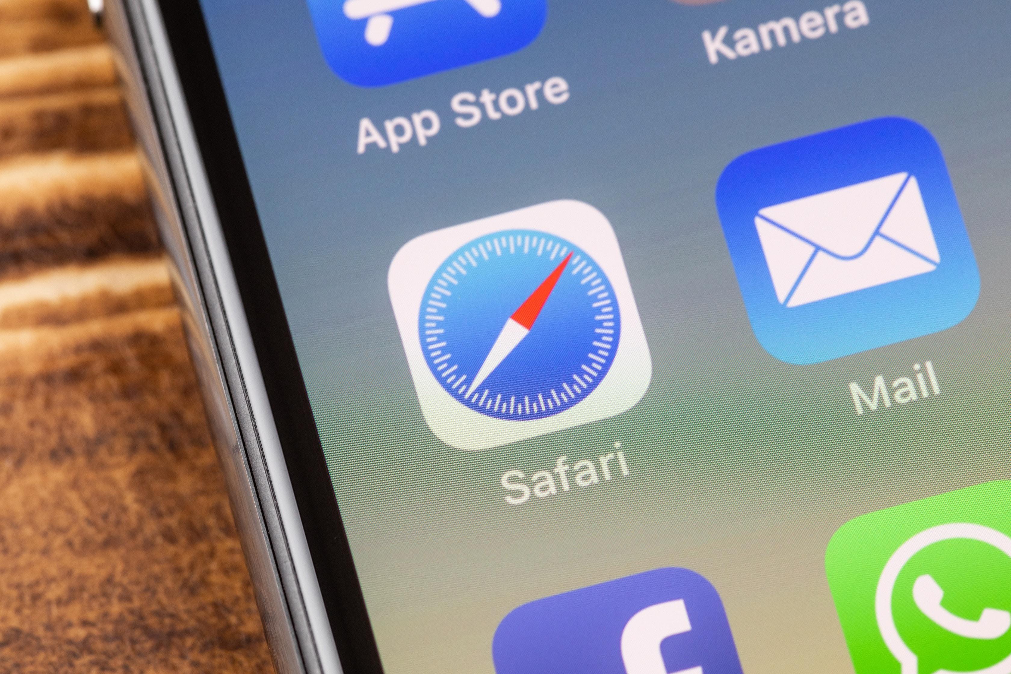 Ícone do Safari em iPhone