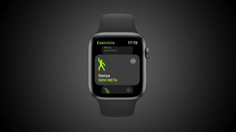 Exercício de dança no Apple Watch