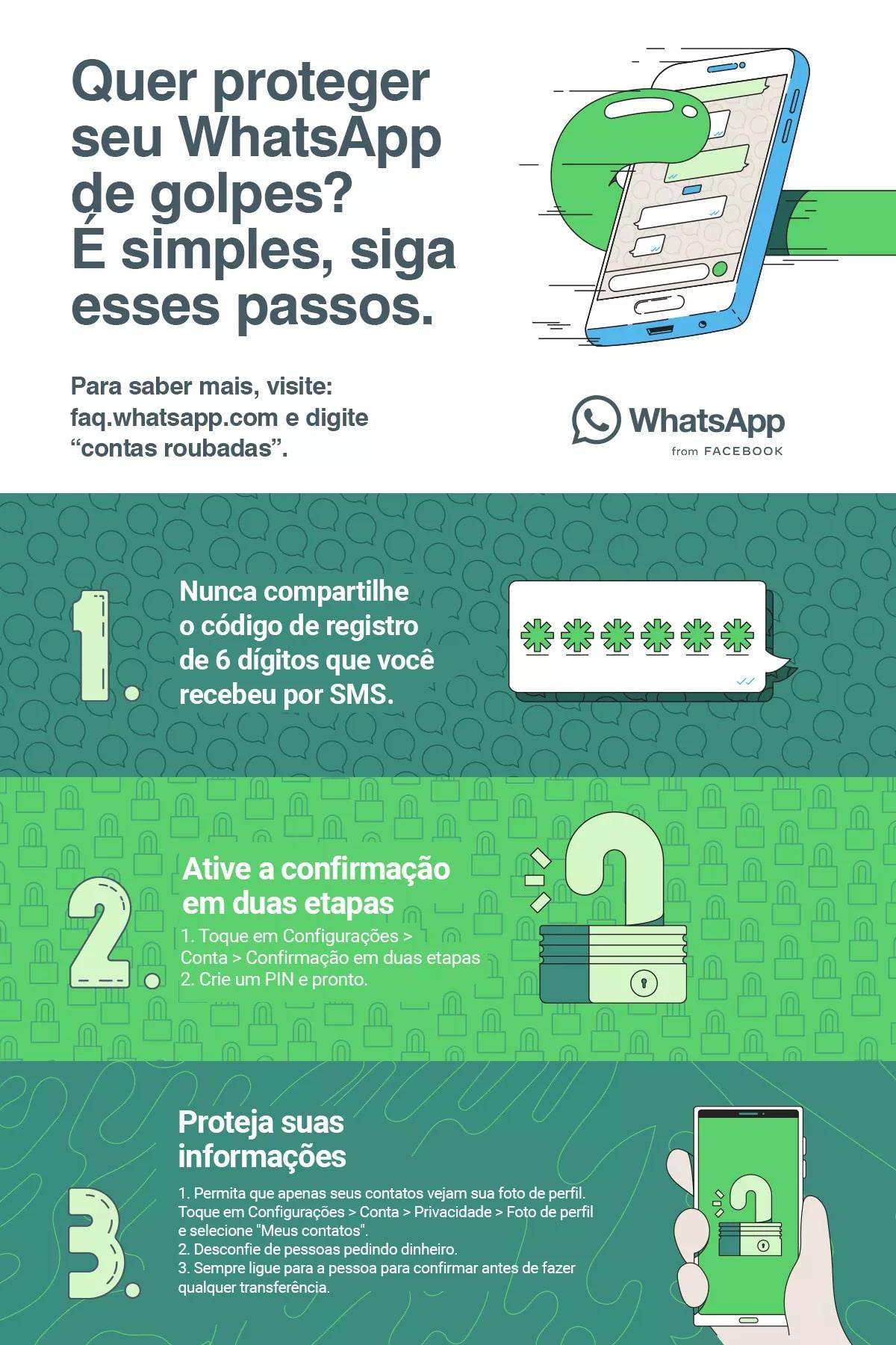 Como se proteger de golpes no WhatsApp