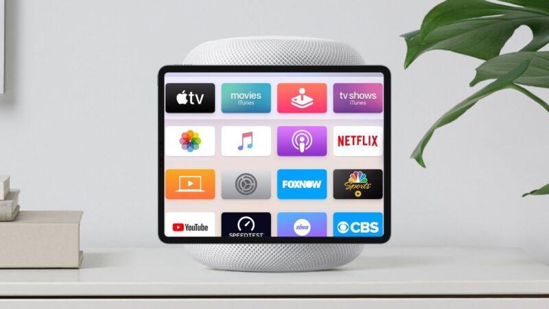 HomePod com iPad