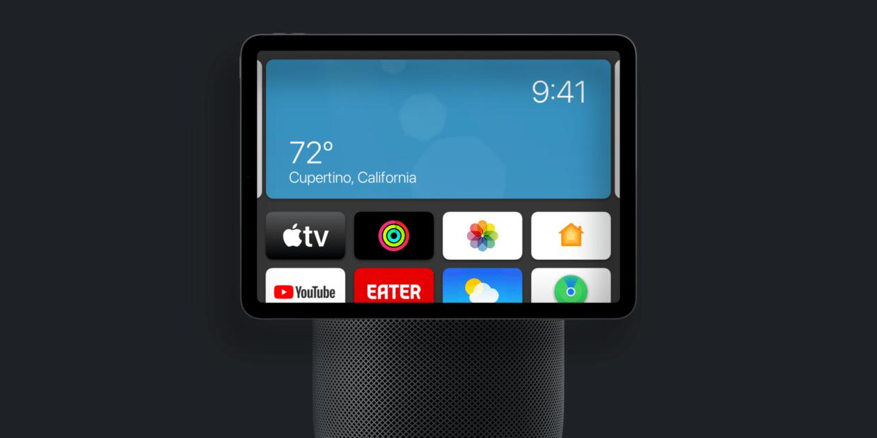 Conceito de híbrido de iPad e HomePod
