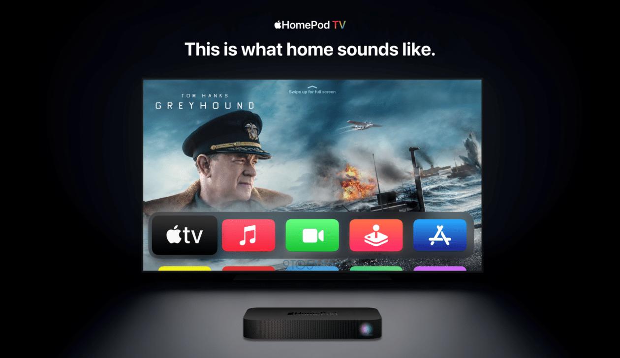 Conceito de híbrido de HomePod e Apple TV