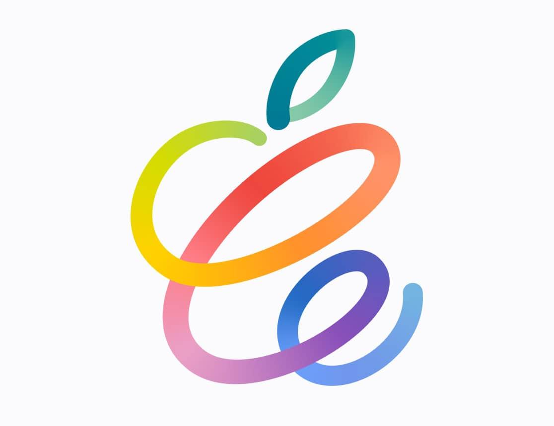 Arte do convite do evento da Apple no dia 20 de abril