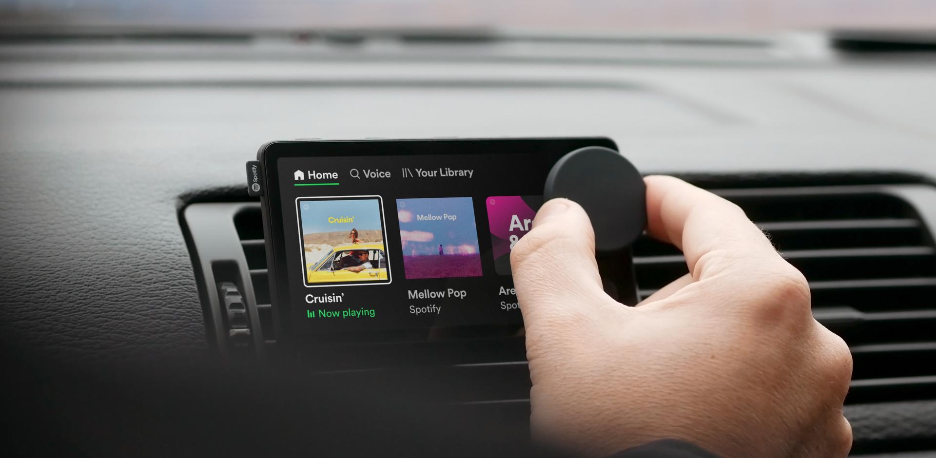 Tocador veicular Car Thing, do Spotify
