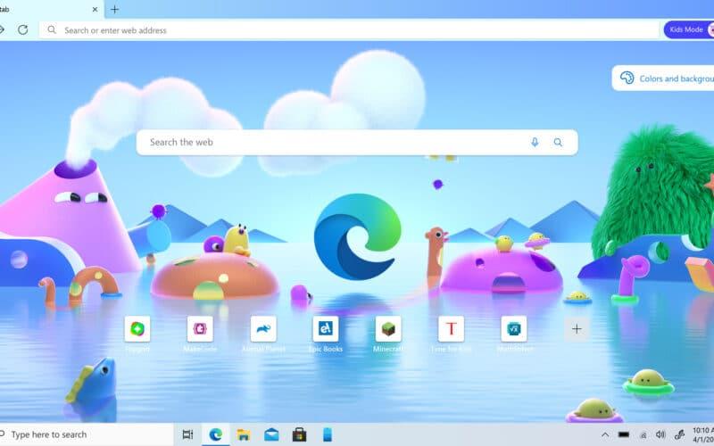 Modo Infantil no Microsoft Edge