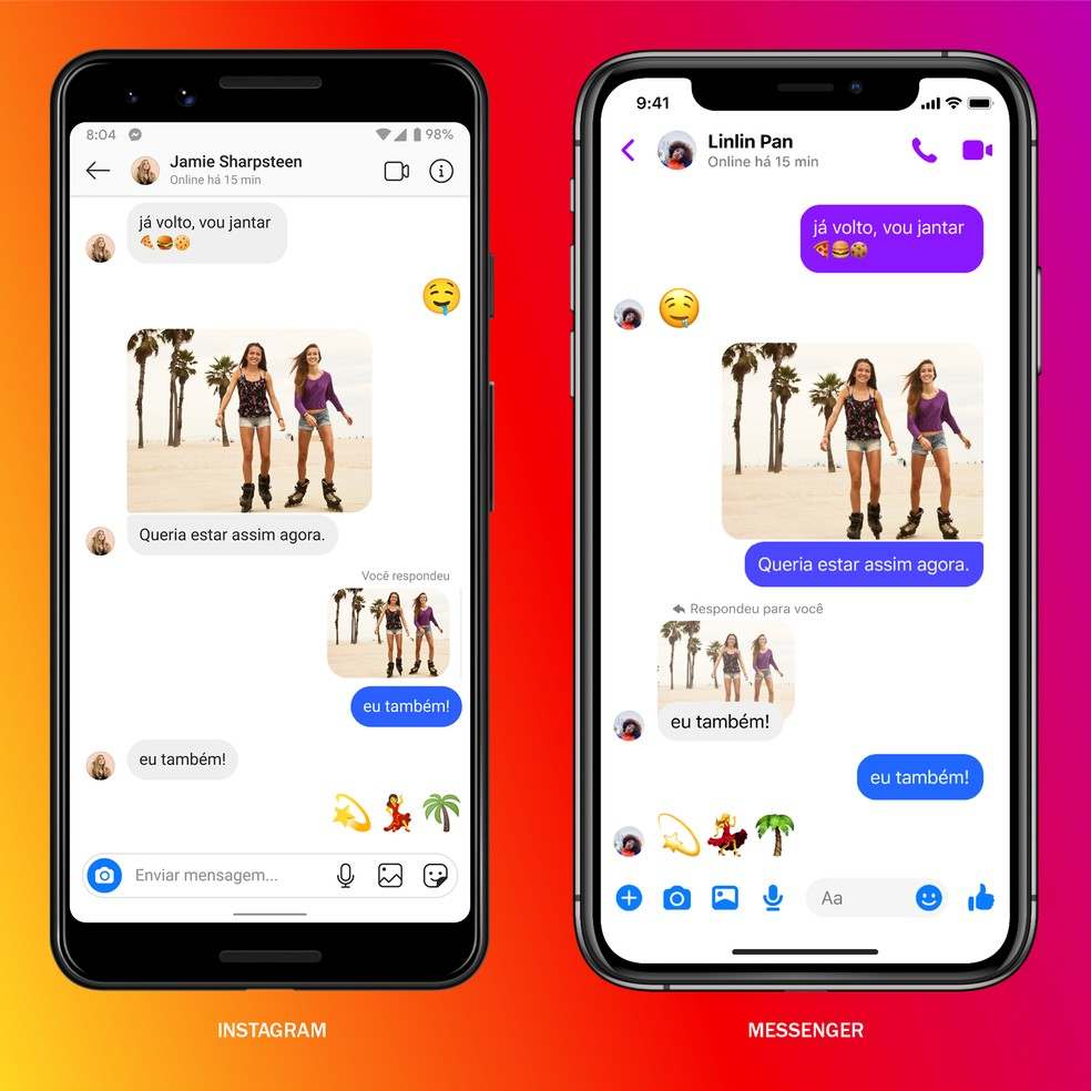 Integração do Facebook Messenger e do Instagram Direct