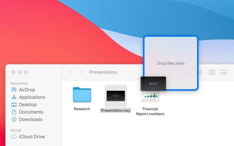 Utilitário Dropover para macOS