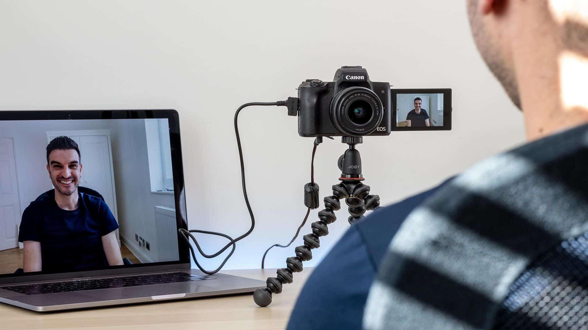 Câmera Canon como webcam