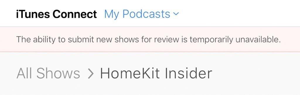Erro ao enviar novos episódios de podcasts pelo iTunes Connect