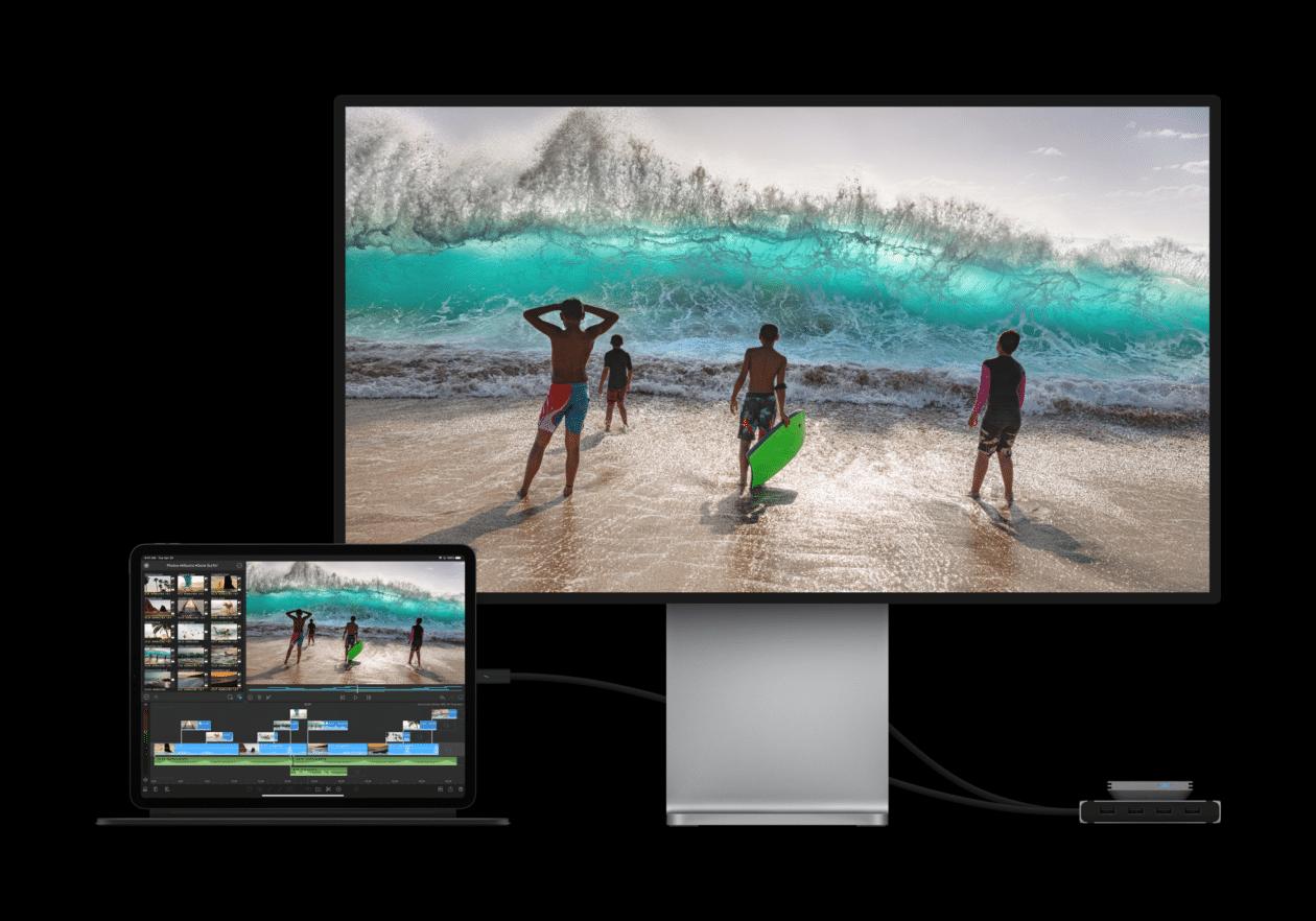 iPad Pro conectado a um Pro Display XDR