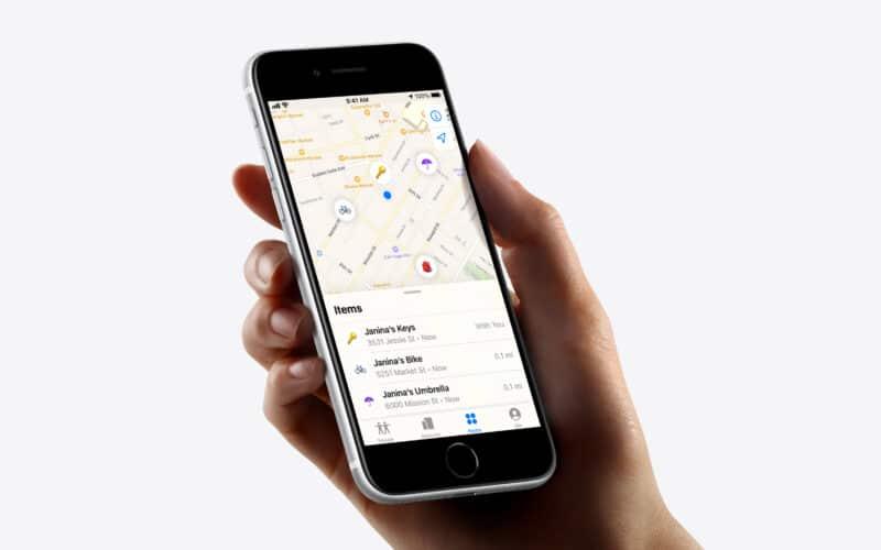 App Buscar e AirTag