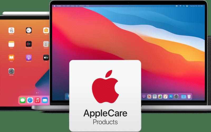 Produtos Apple com o AppleCare+ na frente