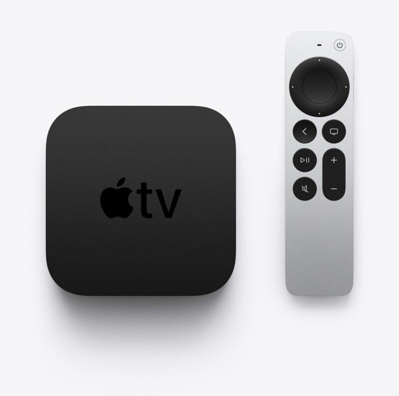 Nova Apple TV 4K com Siri Remote vistos de cima