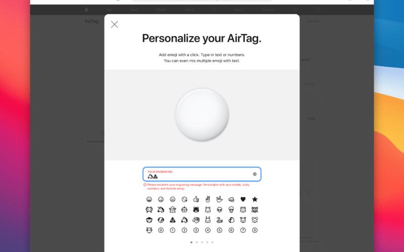 """Tentando personalizar AirTag com """"horseshit"""""""