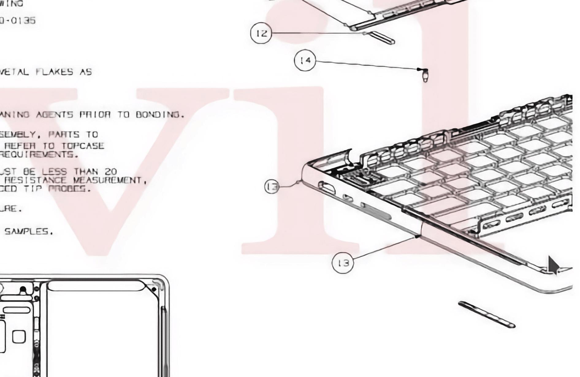 Esquema técnico de futuro MacBook Pro com MagSafe e HDMI