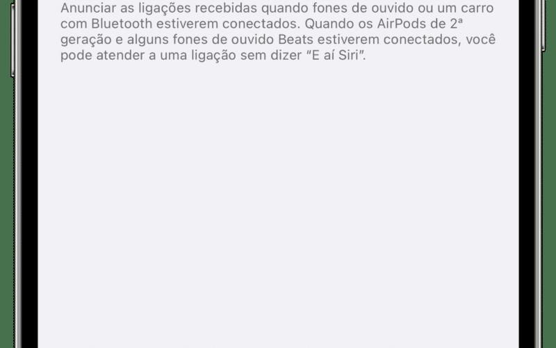 Atender ligações com a Siri no iOS 14.5