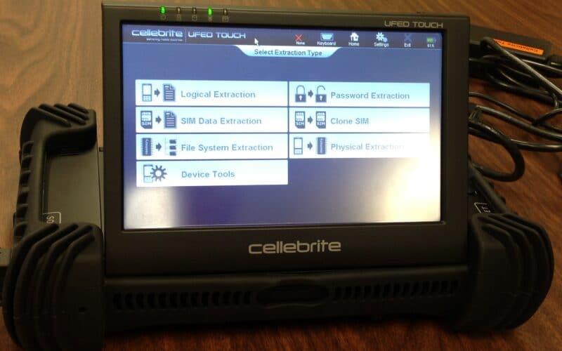 Dispositivo de hacking da Cellebrite
