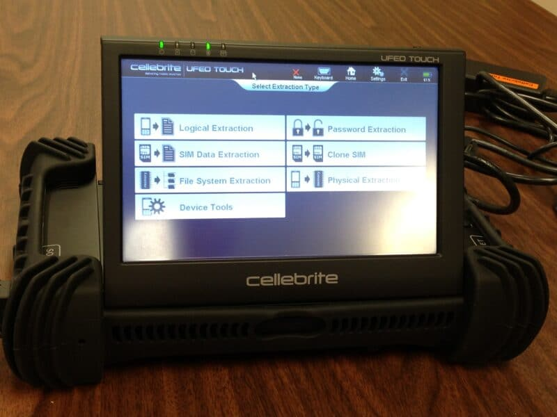 Dispositivo de hacking da Cellebrite