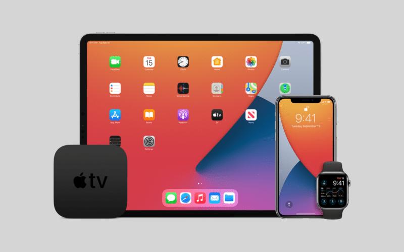 iOS, iPadOS, watchOS e tvOS
