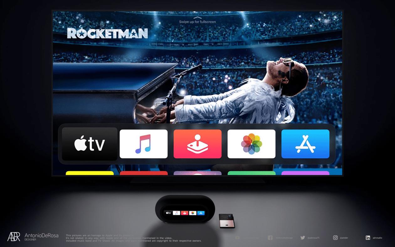 "Conceito de ""Apple HomeTV"""