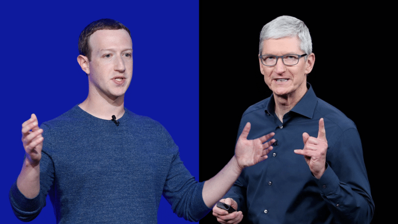 Tim Cook e Mark Zuckerberg