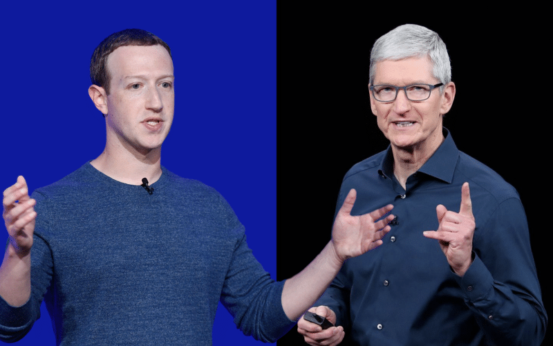 Tim Cook e Mark Zuckerberg