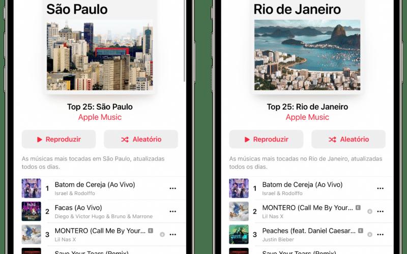 Playlists de cidades do Apple Music