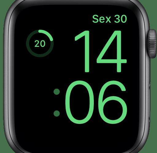 Visualizando porcentagem da bateria no Watch