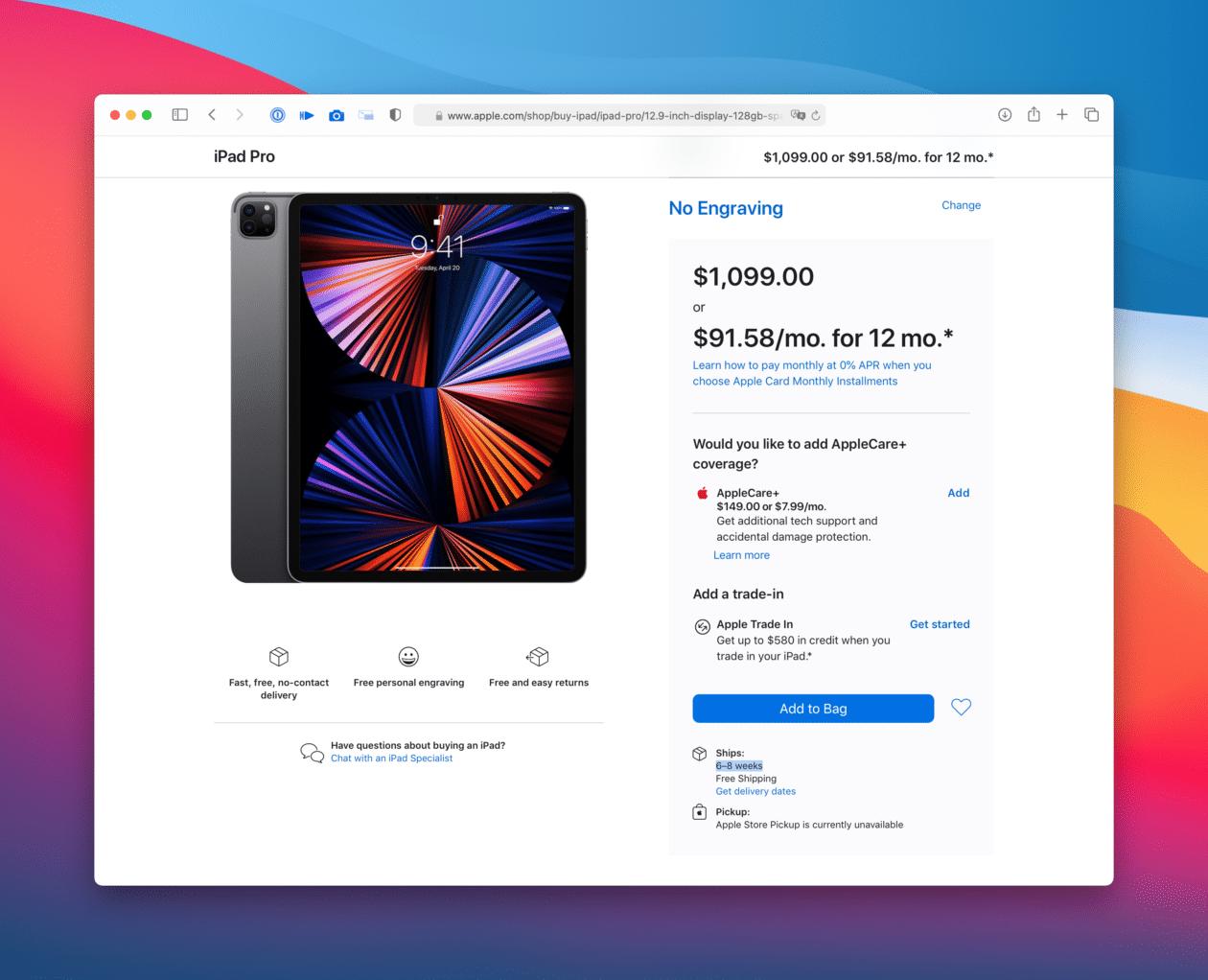 Pré-venda dos novos iPads Pro