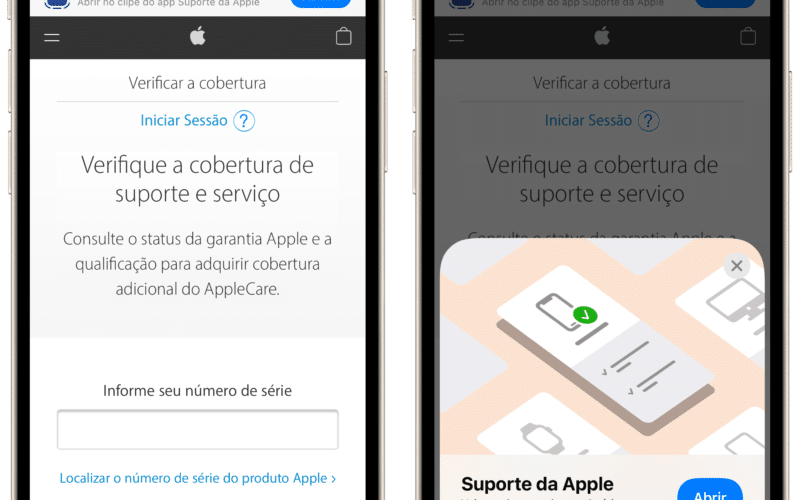 Clipe de App do Suporte da Apple