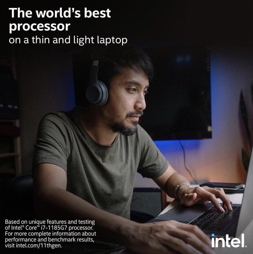 Anúncio da Intel com MacBook Pro