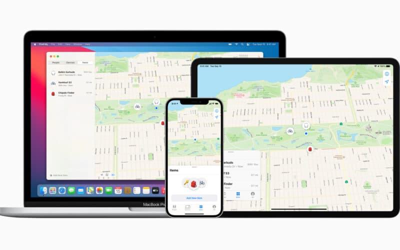 Rede Buscar (Find My) em MacBook Pro, iPad Pro e iPhone 12 Pro