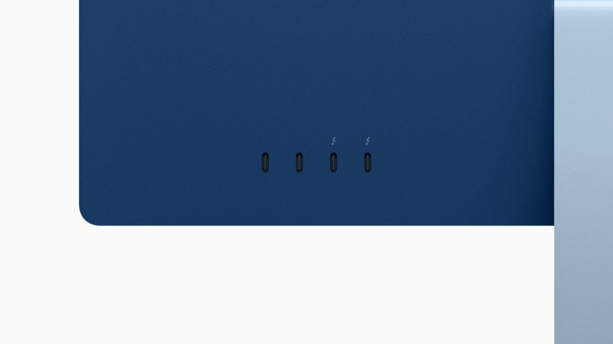 Portas traseiras do iMac M1 de 24 polegadas