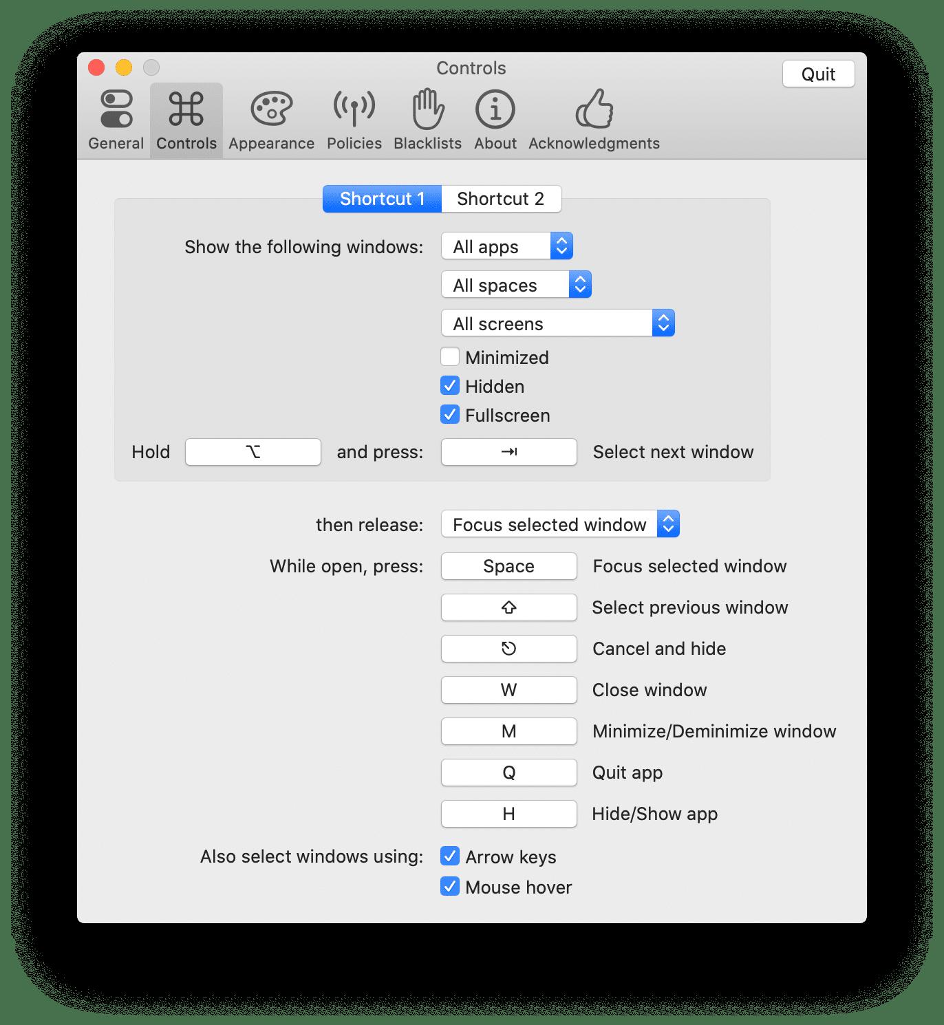 Utilitário Alt-Tab para macOS